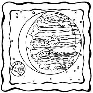 Big Planet On Frame coloring page