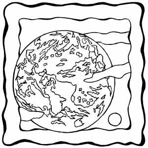 Earth Like Planet On Frame coloring page