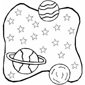 Multiple Planets coloring page