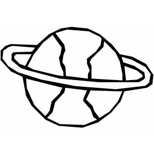 Planet With Circle coloring page