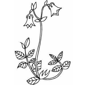 Bell Flowers On Ground coloring page