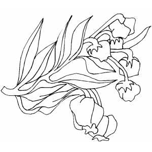 Branch With Flowers coloring page