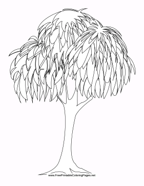 Drooping coloring page