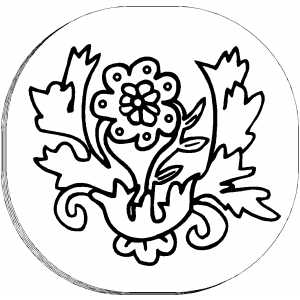 Flower Design In Frame coloring page