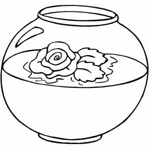 Flower In Aquarium coloring page