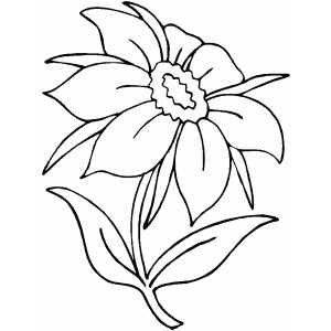 Flower With Seven Petals coloring page