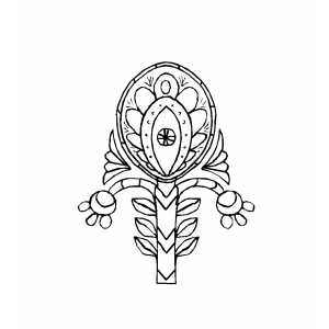Flowers Complicated Design coloring page