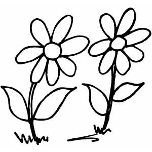 Flowers Couple coloring page