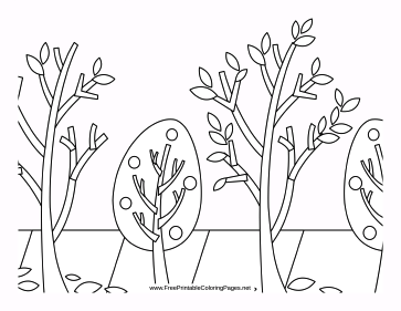 Saplings coloring page