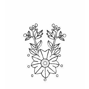 Single Flower Design Coloring Page
