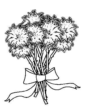 Tropical Flower Bouquet Coloring Page