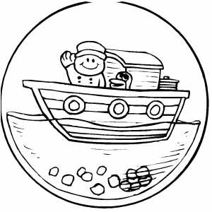 Ball Toy With Boat coloring page