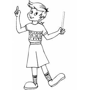 Boy With Magic Wand coloring page