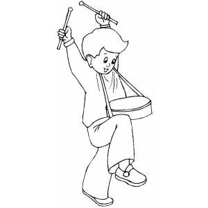 Drumming Boy coloring page