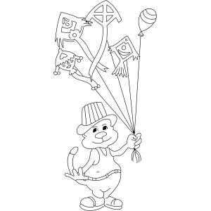Kite Balloons coloring page