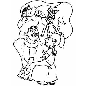 Story Time coloring page