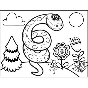 Coiled Snake coloring page