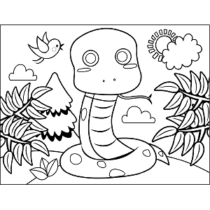 Colied Snake coloring page