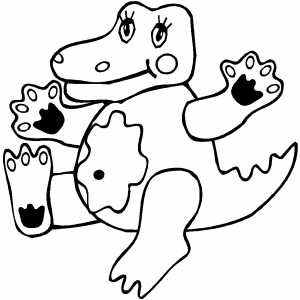 Crocodile Kid coloring page