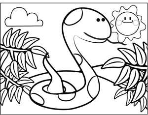 Cute Snake coloring page
