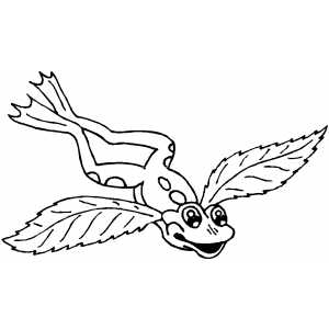 Frog With Wings coloring page