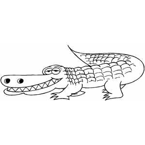 Grinning Alligator coloring page
