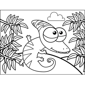 Nerdy Lizard coloring page