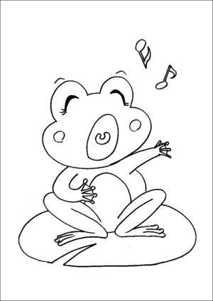 Singing Frog coloring page