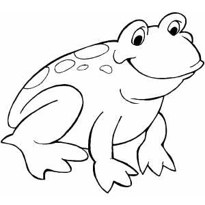 Smiling Frog Coloring Page