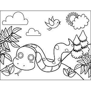 Snake Slithering coloring page