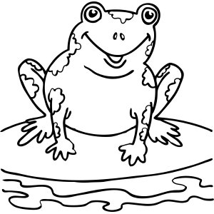 Speckled Frog coloring page
