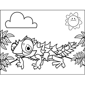 Spiky Iguana coloring page