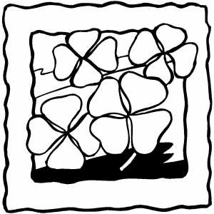 Four Leaf Clovers coloring page