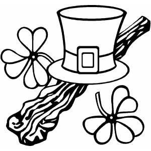 Hat And Shillelagh coloring page
