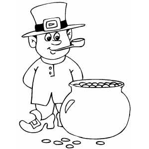 Leprechaun And Gold coloring page