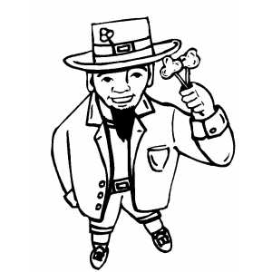 Leprechaun In Hat coloring page