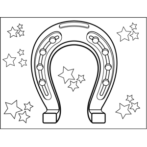 Lucky Horseshoes coloring page