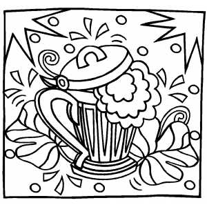 Shamrocks And Beer coloring page