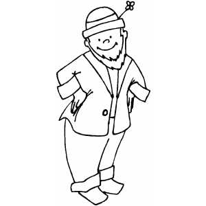 Smiling Leprechaun coloring page