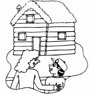 American History House coloring page