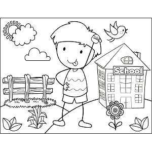 Boy Making Face coloring page