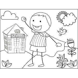 Boy Shouting coloring page