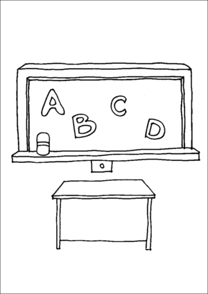 Classroom Chalkboard coloring page