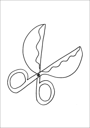 Funny Scissors coloring page