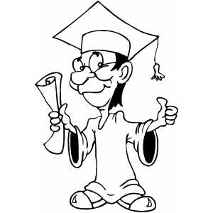 Guy Graduation coloring page