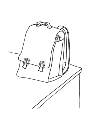 School Backpack coloring page