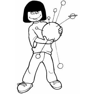 Science Project coloring page