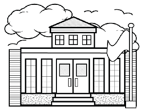 small school coloring page - Coloring Page Of A School