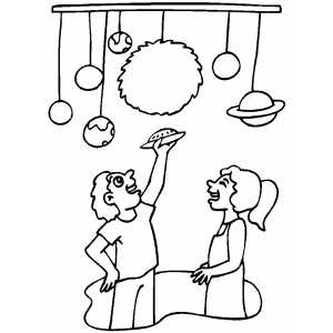 Space Museum coloring page
