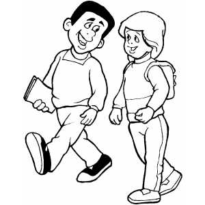 people walking coloring pages coloring page cartoon